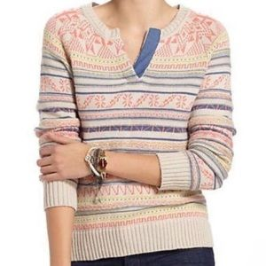 ANTHROPOLOGIE Fietsvoor fair isle sweater XL